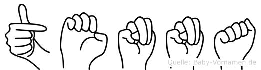 Tenna in Fingersprache für Gehörlose