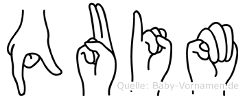 Quim im Fingeralphabet der Deutschen Gebärdensprache