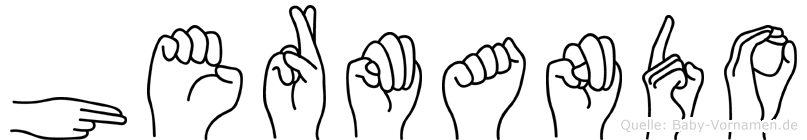 Hermando im Fingeralphabet der Deutschen Gebärdensprache