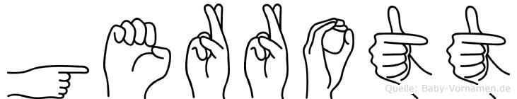 Gerrott im Fingeralphabet der Deutschen Gebärdensprache