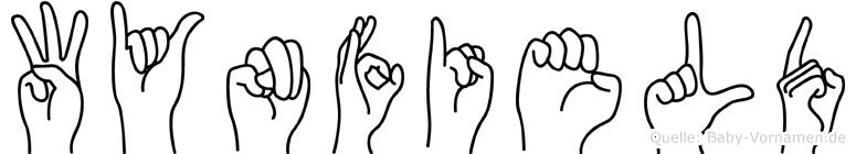 Wynfield im Fingeralphabet der Deutschen Gebärdensprache