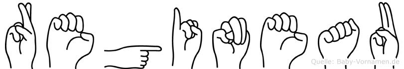 Regineau im Fingeralphabet der Deutschen Gebärdensprache