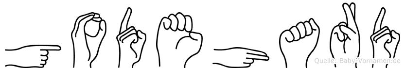 Godehard im Fingeralphabet der Deutschen Gebärdensprache