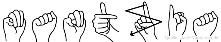Mantzia in Fingersprache für Gehörlose