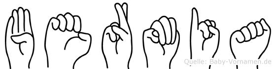 Bermia in Fingersprache für Gehörlose