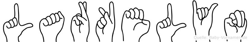 Larkelyn im Fingeralphabet der Deutschen Gebärdensprache
