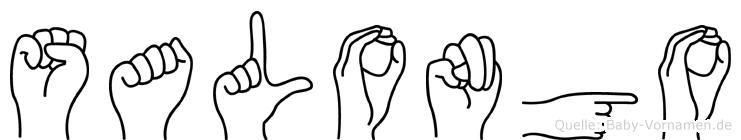 Salongo im Fingeralphabet der Deutschen Gebärdensprache