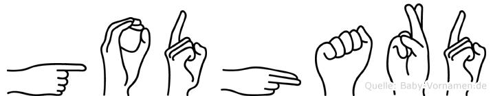 Godhard im Fingeralphabet der Deutschen Gebärdensprache