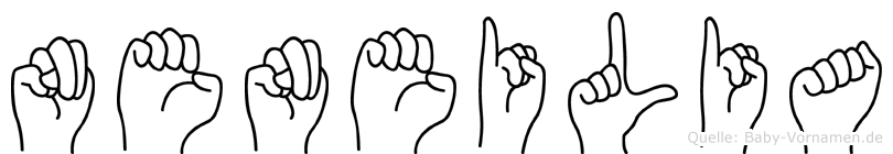 Neneilia im Fingeralphabet der Deutschen Gebärdensprache