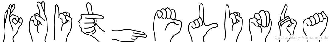 Frithelinda im Fingeralphabet der Deutschen Gebärdensprache