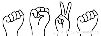 Asva in Fingersprache für Gehörlose
