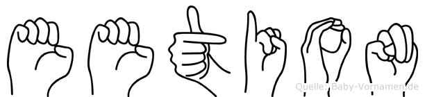 Eetion in Fingersprache für Gehörlose