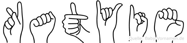 Katyie im Fingeralphabet der Deutschen Gebärdensprache