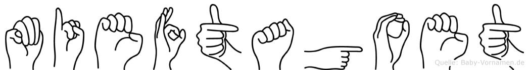 Mieftagoet im Fingeralphabet der Deutschen Gebärdensprache