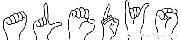 Aledys im Fingeralphabet der Deutschen Gebärdensprache