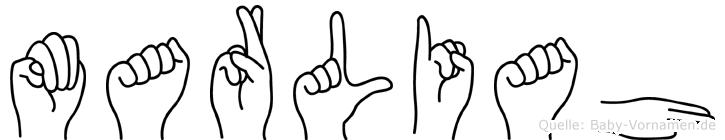 Marliah in Fingersprache für Gehörlose