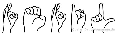 Fefil in Fingersprache für Gehörlose