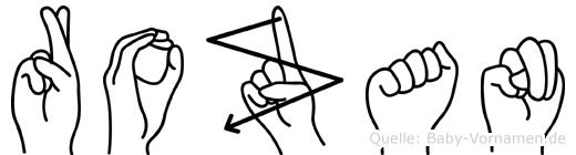Rozan in Fingersprache für Gehörlose