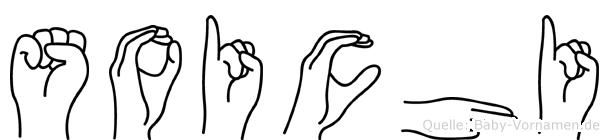 Soichi im Fingeralphabet der Deutschen Gebärdensprache