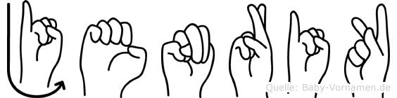 Jenrik in Fingersprache für Gehörlose