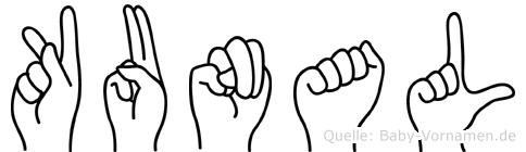 Kunal in Fingersprache für Gehörlose