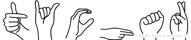 Tychar in Fingersprache für Gehörlose