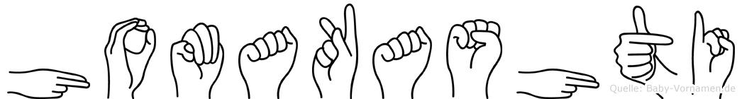 Homakashti im Fingeralphabet der Deutschen Gebärdensprache
