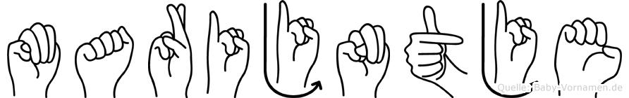 Marijntje im Fingeralphabet der Deutschen Gebärdensprache
