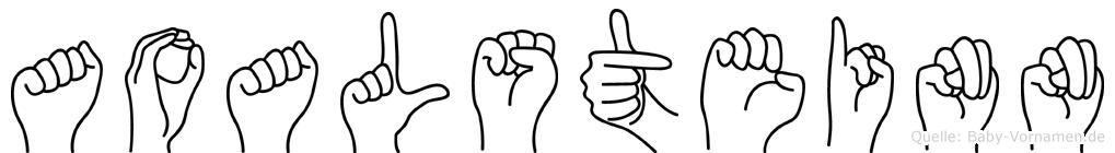 Aoalsteinn in Fingersprache für Gehörlose