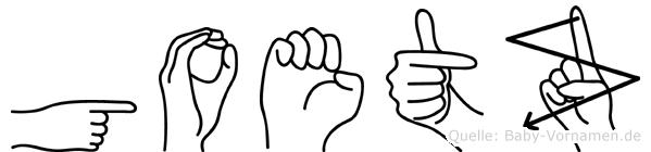 Goetz in Fingersprache für Gehörlose