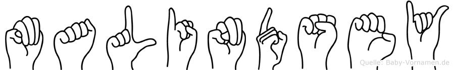 Malindsey in Fingersprache für Gehörlose