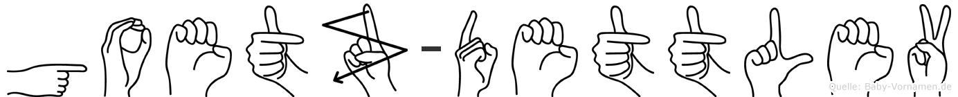 Goetz-Dettlev im Fingeralphabet der Deutschen Gebärdensprache