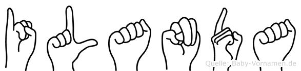 Ilanda in Fingersprache für Gehörlose