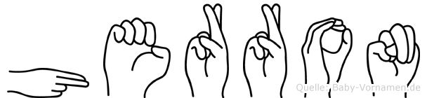 Herron im Fingeralphabet der Deutschen Gebärdensprache