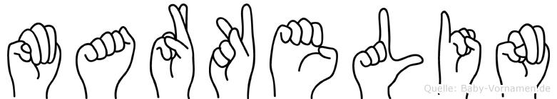 Markelin in Fingersprache für Gehörlose