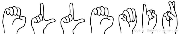 Ellemir im Fingeralphabet der Deutschen Gebärdensprache