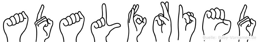 Adalfried in Fingersprache für Gehörlose