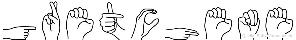 Gretchene in Fingersprache für Gehörlose