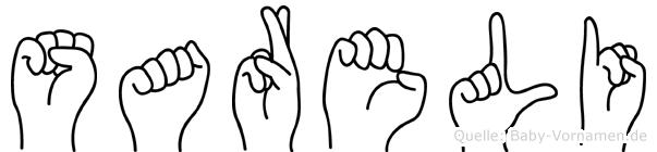 Sareli in Fingersprache für Gehörlose