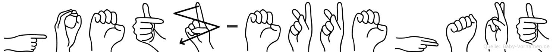 Goetz-Ekkehart im Fingeralphabet der Deutschen Gebärdensprache