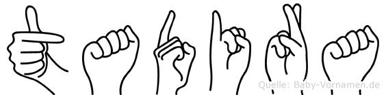 Tadira in Fingersprache für Gehörlose