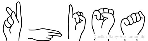 Khisa im Fingeralphabet der Deutschen Gebärdensprache