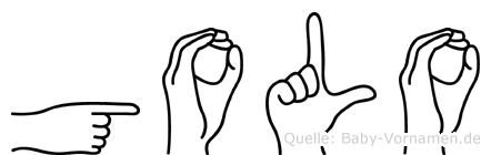 Golo in Fingersprache für Gehörlose