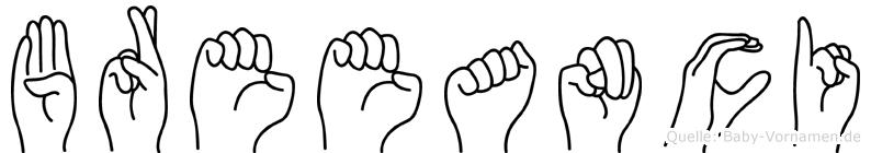 Breeanci in Fingersprache für Gehörlose
