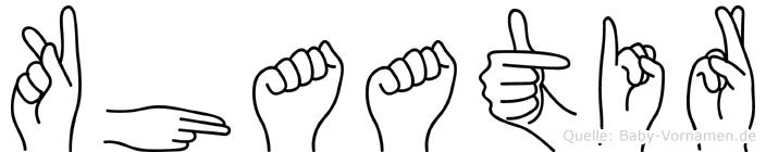 Khaatir im Fingeralphabet der Deutschen Gebärdensprache