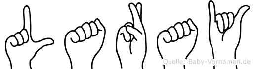 Laray im Fingeralphabet der Deutschen Gebärdensprache