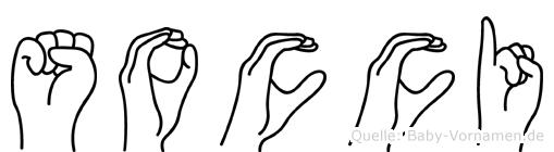 Socci im Fingeralphabet der Deutschen Gebärdensprache