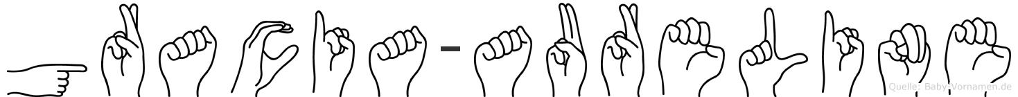 Gracia-Aureline im Fingeralphabet der Deutschen Gebärdensprache