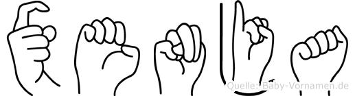 Xenja im Fingeralphabet der Deutschen Gebärdensprache
