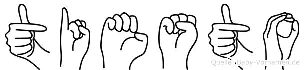 Tiesto im Fingeralphabet der Deutschen Gebärdensprache